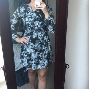 Keyhole floral dress